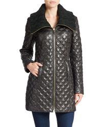 Via Spiga Black Quilted Zip-front Jacket