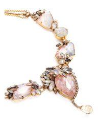 Erickson Beamon | Multicolor 'marchesa' Iridescent Gemstone Necklace | Lyst