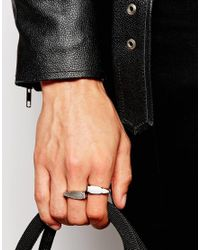 ASOS | Metallic Arrow Ring Pack In Silver for Men | Lyst