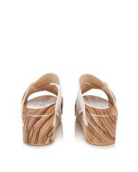 Proenza Schouler White Leather Platform Slide Sandal