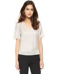 Rag & Bone - Gray Helena Top - Black - Lyst