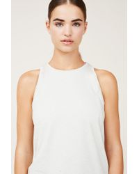 Outdoor Voices | Natural High-Neck Running Tank Top | Lyst