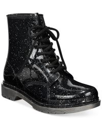 Circus by Sam Edelman Black Quinn Lace-up Booties
