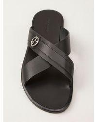 Giorgio Armani Black Classic Sandal for men