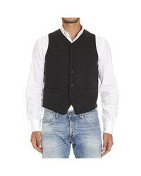 Emporio Armani | Gray Giorgio Armani Men's Waistcoat for Men | Lyst