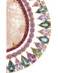 """Shawn Ames - One-Of-A-Kind """"Rainbow Organic"""" Morganite, Pink Sapphires, Amethyst And Assorted Color Spinel Earrings - Lyst"""