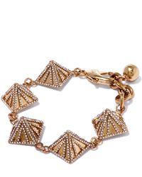 Lulu Frost - Metallic Gold-tone Apex Pave Bracelet - Lyst