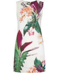 Osklen Multicolor Foliage Print Dress