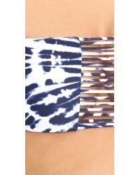 Mikoh Swimwear - Blue Sunset Bandeau Bikini Top - Lyst