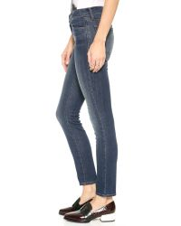 J Brand Blue 811 Mid Rise Skinny Jeans - Storm
