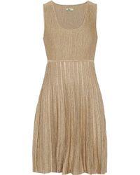 Issa - Metallic Stretch-Knit Dress - Lyst