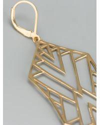 Zoe & Morgan Metallic 'Misfit' Earring
