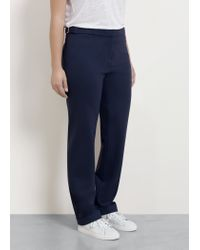 Violeta by Mango - Blue Buckle Suit Trousers - Lyst