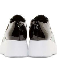 KENZO - Black Patent Leather Platform Loafers - Lyst