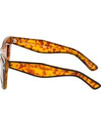 Ksubi - Yellow Tortoiseshell Outline Skeleton Sunglasses for Men - Lyst