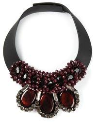 Marni - Black Collar Necklace - Lyst