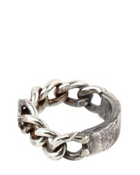 Emanuele Bicocchi - Metallic Chained Silver Ring for Men - Lyst