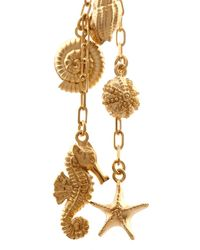 Valentino - Metallic Shell And Seahorse Drop Earrings - Lyst