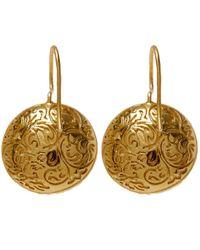 Larkspur & Hawk | Green Gold Olivia Button Topaz Earrings | Lyst
