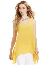 Karen Kane | Yellow Handkerchief-Hem Tank | Lyst