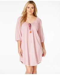 Lucky Brand | Pink Plus Size Sleepshirt | Lyst