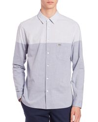 Lacoste | Blue Colorblocked Sportshirt for Men | Lyst