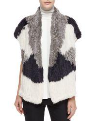 Vince - Multicolor Speckled Cotton-blend Knit Scarf - Lyst