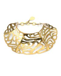 Josie Natori Metallic Cutout Collar Necklace
