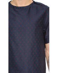 Sidian, Ersatz & Vanes | Blue Woven T-shirt for Men | Lyst