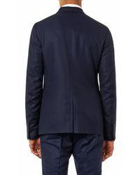 Gucci Blue Palma Wool-Twill Blazer for men