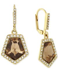 Vince Camuto - Metallic Gold-plated Champagne Crystal Drop Earrings - Lyst