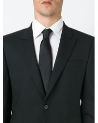 BOSS - Black Classic Plain Tie for Men - Lyst