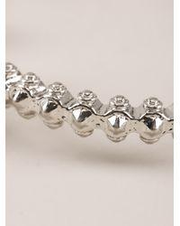 Alexander McQueen - Metallic Twin Skull Stud Bracelet - Lyst