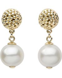 Links of London | Effervescence White Pearl 18Ct Gold Drop Earrings - For Women | Lyst