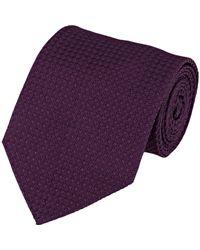 Cifonelli Purple Jacquard Necktie for men