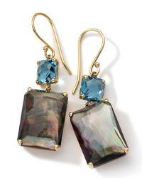 Ippolita | Metallic 18k Gold Rock Candy Gelato Topaz & Black Shell Earrings | Lyst