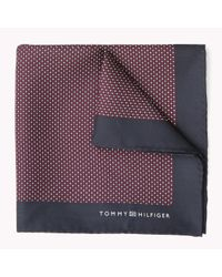Tommy Hilfiger | Purple Silk Pocket Square for Men | Lyst