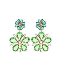 Dolce & Gabbana Multicolor Embellished Clip-On Earrings