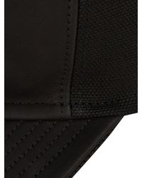 Balmain Black Leather And Cotton-canvas Cap for men