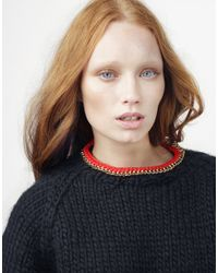 Wool And The Gang   Black In Chain Sweater   Lyst