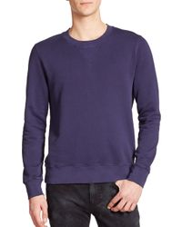 BLK DNM | Blue Dyed Crewneck Sweatshirt for Men | Lyst