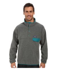 Patagonia | Gray Lightweight Synchilla® Snap-T® Fleece Pullover for Men | Lyst