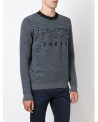 KENZO - Blue Paris Waffle Sweatshirt for Men - Lyst