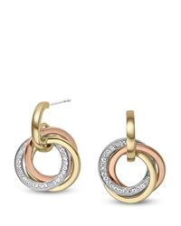 Michael Kors - Metallic Tritone Dangle Earrings - Lyst