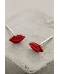 Anthropologie - Red Femme Fatale Studs - Lyst