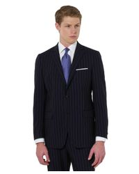 Brooks Brothers - Blue Fitzgerald Wide Stripe 1818 Suit for Men - Lyst
