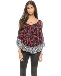 Free People | Red Chloe Tee - Cherry Combo | Lyst