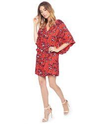 Ella Moss | Orange Jungle Floral Flutter Dress | Lyst