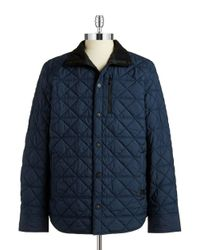 Victorinox | Blue Quilted Jacket for Men | Lyst