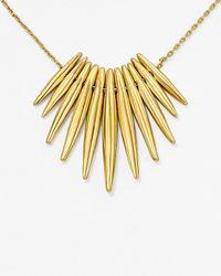 "Michael Kors - Metallic Tribal Pendant Necklace, 16"" - Lyst"